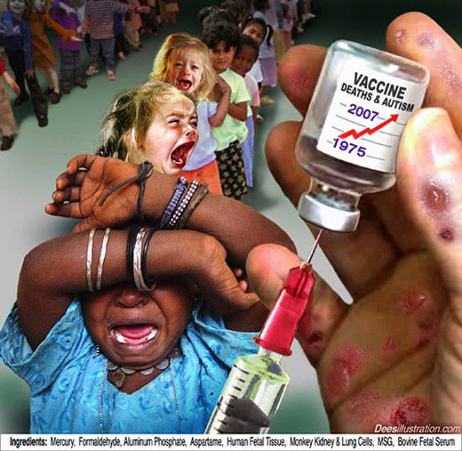 Niños Vacunados 5 Veces más Propensos a Enfermarse