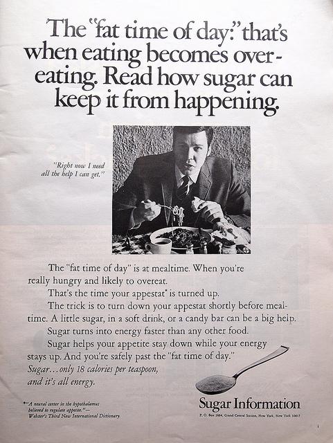 Vendiendo Engañosos Beneficios del Azúcar desde 1955