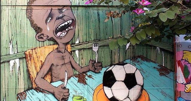 mural brasil no futbol @ Tao Tv