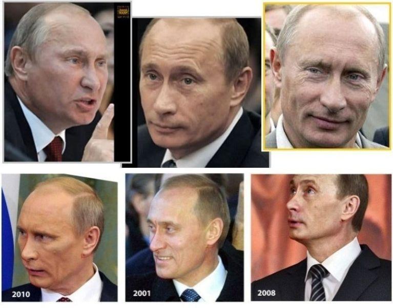 dobles presidente putin rusia