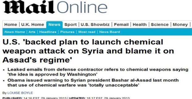 Ataque químico de bandera falsa a efectuarse en siria despierta temores de guerra