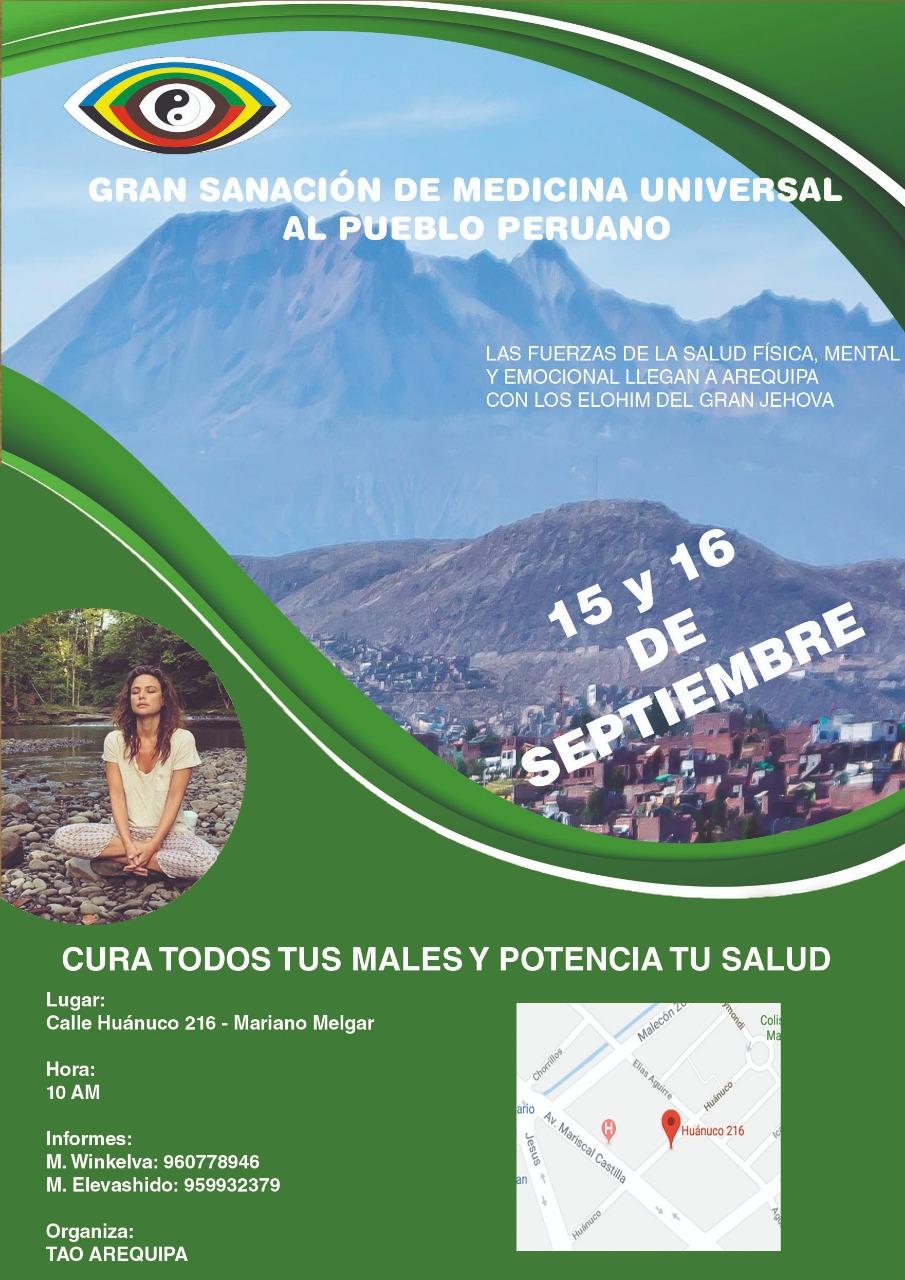Gran Alentasierto  de Medicina Universal en el País de Perú