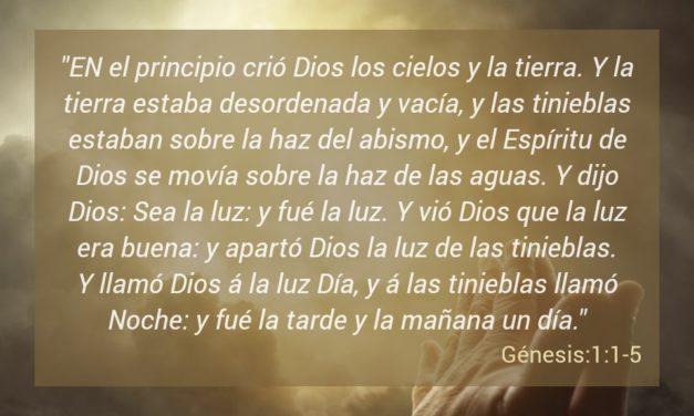 Memorandium de el libro de Génesis 1, versos desde el 1 al 5